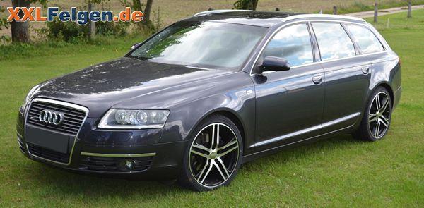 Audi A6 Avant Quattro + DBV Mauritius black front poliert 19 Zoll Alufelgen