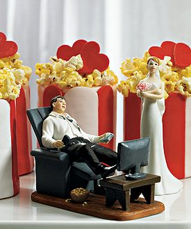 'Couch Potato' Groom Figurine... this is about right