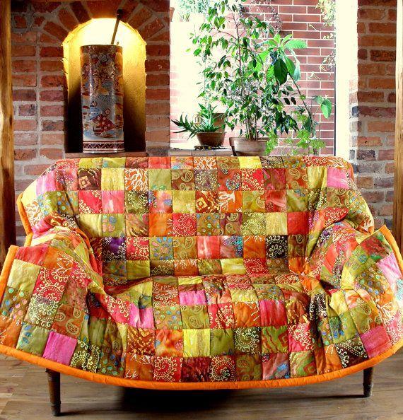 Лоскутное покрывало ручной работы/Patchwork quilt bedspread