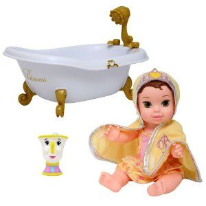 "Disney My First Bath Baby Princess - Belle by Disney. $32.94. Comes with a toy bathtub, a hooded towel with attached tiara, and a charming bath friend. Drains and dries quickly for easy care. 12"" Princess Belle. Dressed in waterready outfits. From the Manufacturer                My First Bath Baby Princess - Belle. 12"" Princess Belle. Dressed in waterready outfits. Comes with a toy bathtub, a hooded towel with attached tiara, and a charming bath friend. Drains and dr..."
