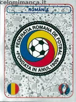 UEFA EURO 2016™ Official Sticker Album: Fronte Figurina n. 12 România Logo