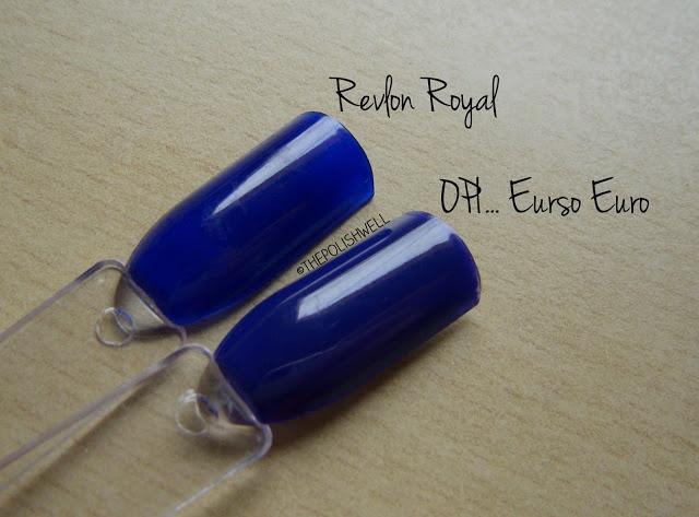 Revlon Royal & OPI Eurso Euro | Nail Polish Dupes