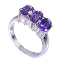 chocolate-box Amethyst Silver Purple Ring supply L-1in US 5678