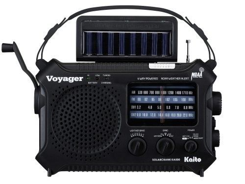 Kaito KA500, 5-way Powered Emergency AM/FM/SW NOAA Weather Alert Radio with Solar,Dynamo Crank,Flashlight and Reading Lamp, Black