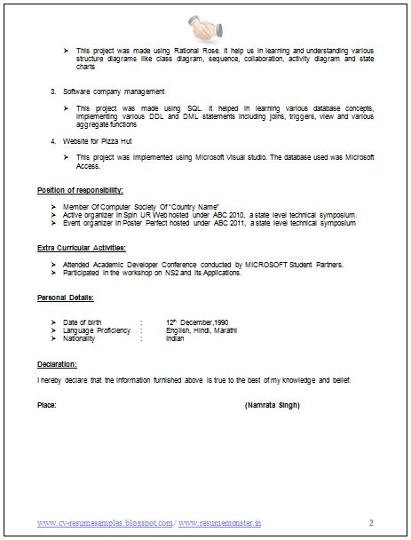 759 best Career images on Pinterest Resume templates, Sample - computer science resumes