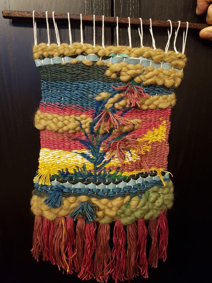 Prima tapiserie - lana, ata, piele si lana impaslita