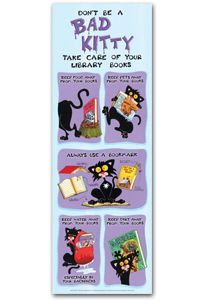 Bad Kitty book care poster