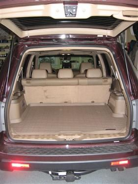 2012 honda pilot trunk dimensions
