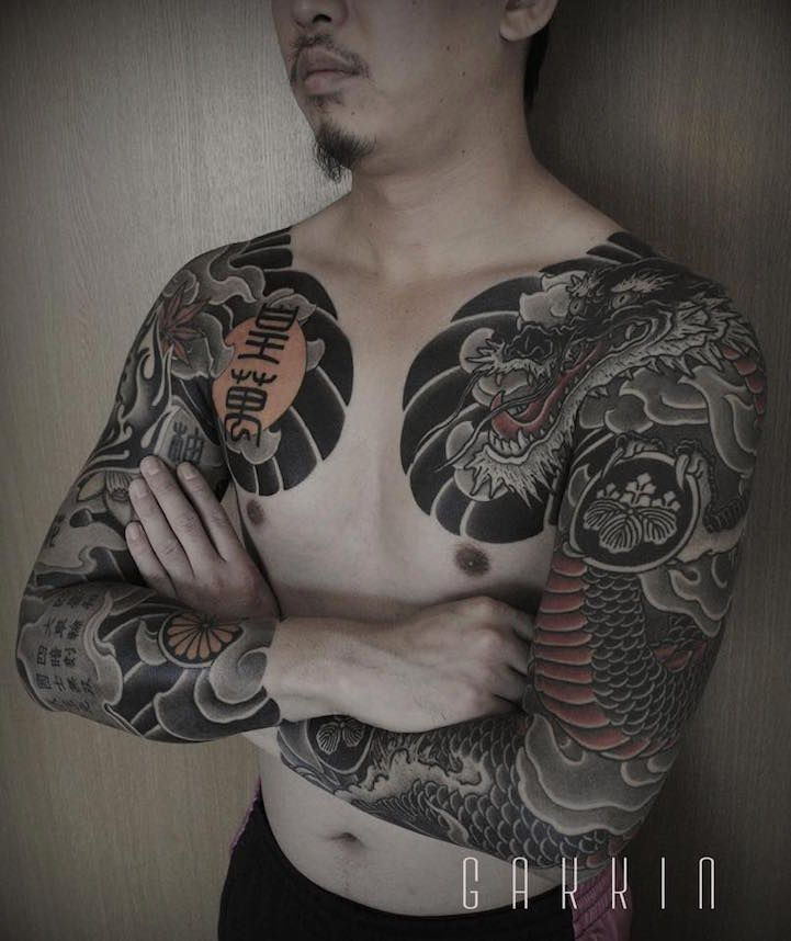 Tattooist Fuses Contemporary Freehand Techniques with Traditional Japanese Themes - My Modern Met