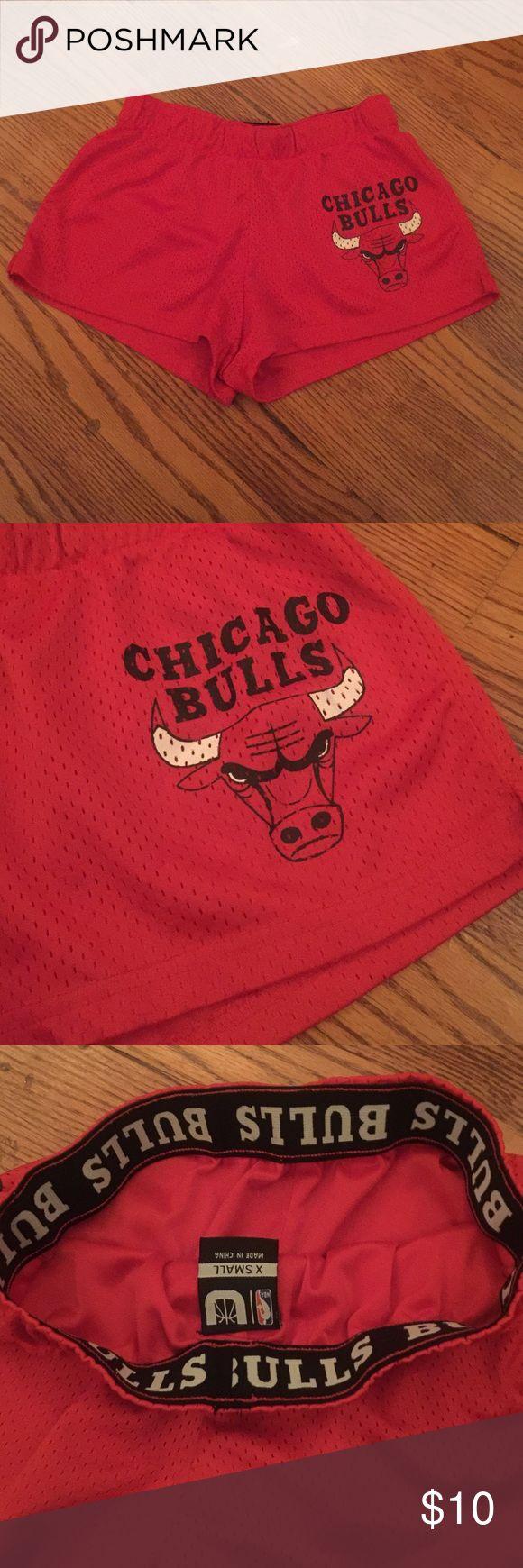 NBA Bulls Basketball shorts Extra small shorts in good condition. Tags: booty shorts, basketball shorts, NBA Bulls Shorts