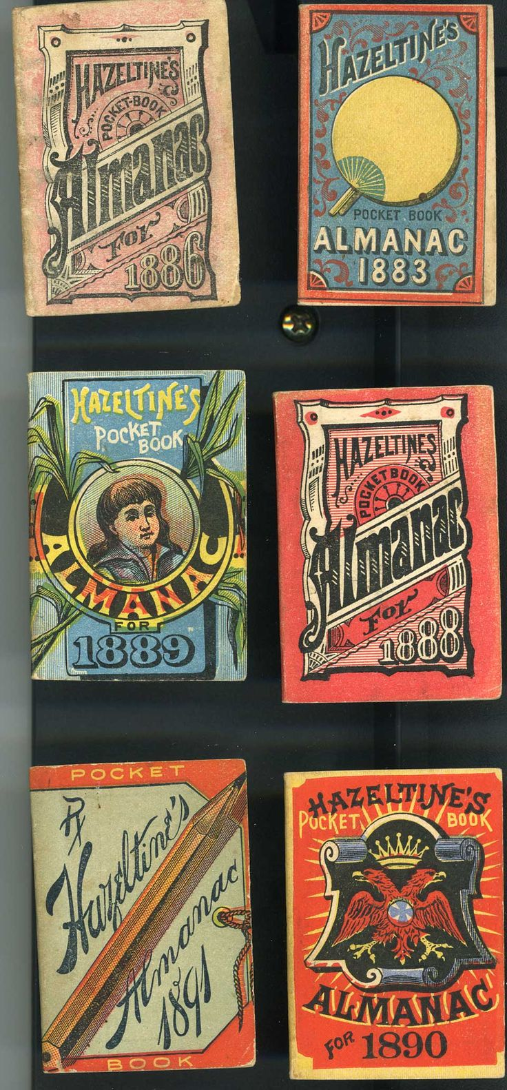 miniature almanacs produced from 1893 to 1891                              …