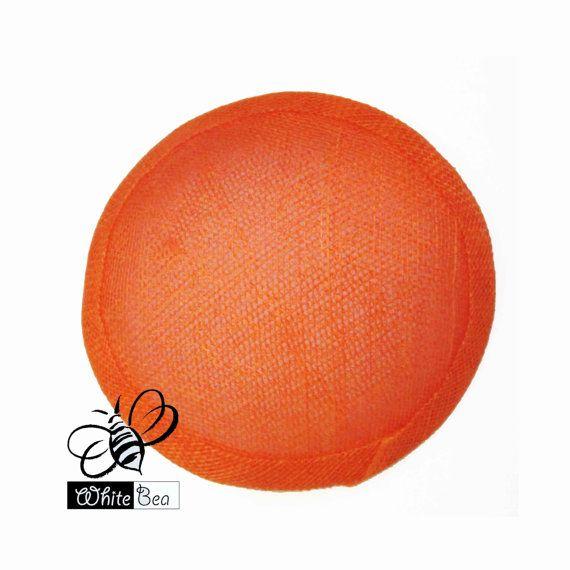 Simamay Fascinator base  Round  Orange  1 piece by WhiteBea, $9.00