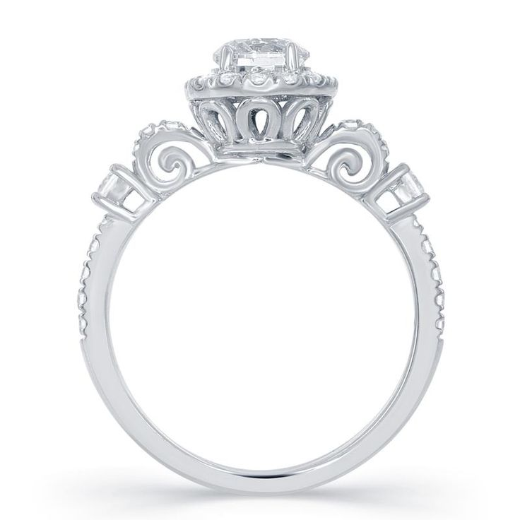 Delightful Enchanted Fine Jewelry | Cinderella Carriage Bridal Ring 14kt White Gold  Carriage Bridal Ring. 1.00 Photo Gallery