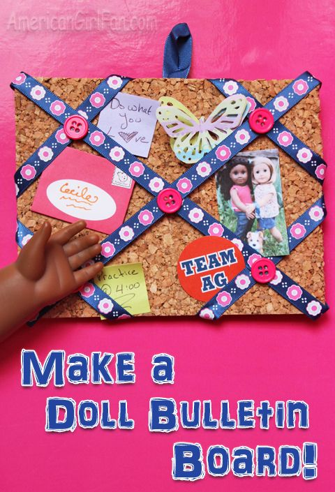 No a doll can have everything-- here is a bulletin board for them ...