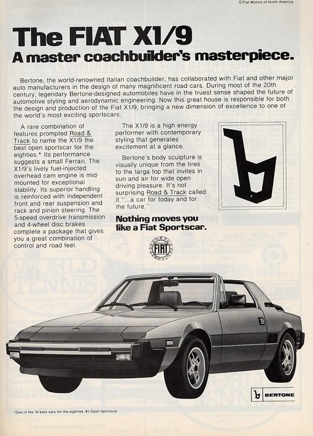 1982 Fiat X19