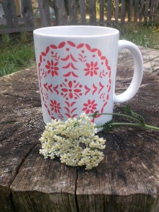 Folk art cup