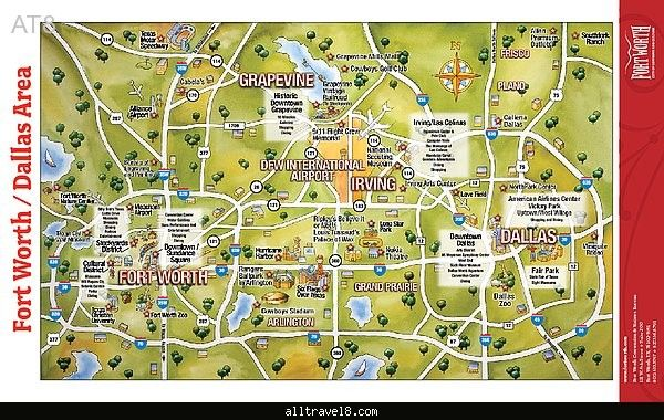 Dallas/Fort Worth Map Tourist Attractions - http://alltravel8.com/dallasfort-worth-map-tourist-attractions/