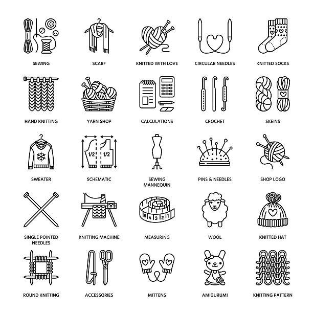 Best Knitting Illustrations, Royalty-Free Vector Graphics