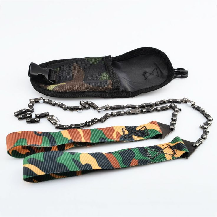 Outdoor Survival Tool 65 Manganese Steel Hand Felling Saw Portable Hand Chain Saw - Camouflage