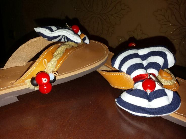 Handmade sandals. Navy! summer is here!