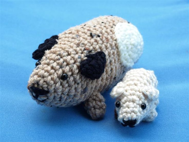 "Crochet Guinea Amigurumi Pigs - Free PDF Pattern ( click "" adult Guinea Pig Crochet Pattern"" and ""Baby Guinea Pig Crochet Pattern"")"