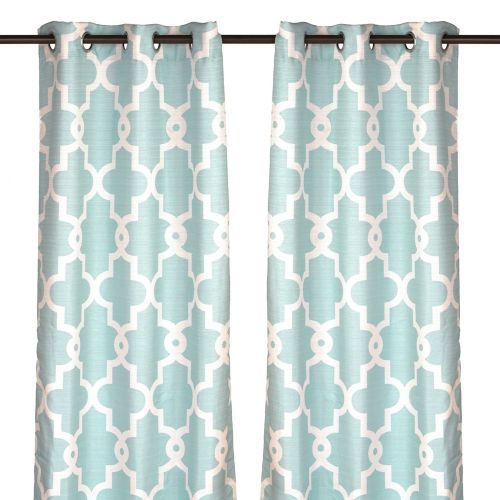 Just bought tees for our homeschool room! Love them!! Aqua Maxwell Curtain Panel Set, 84 in. | Kirklands