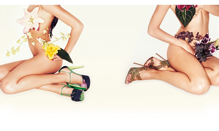 Awesome ad campaign for stilettos. Sergio Rossi S/S 2012 - part 2