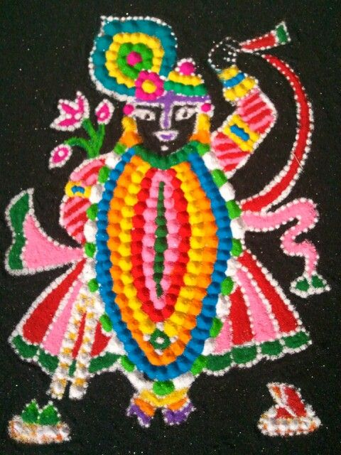 Rangoli of lord shrinathji on the occasion of diwali by hima shah(me).