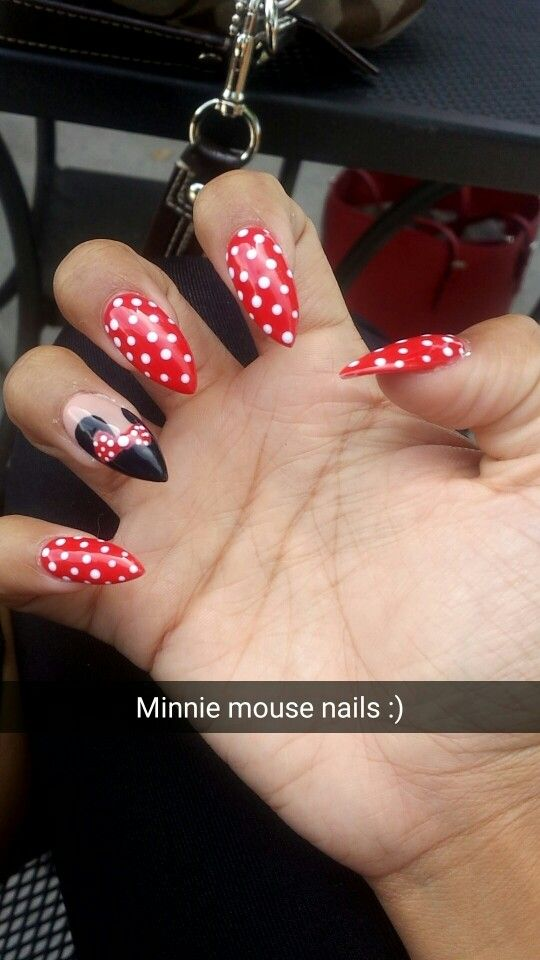 Disney stiletto nails!
