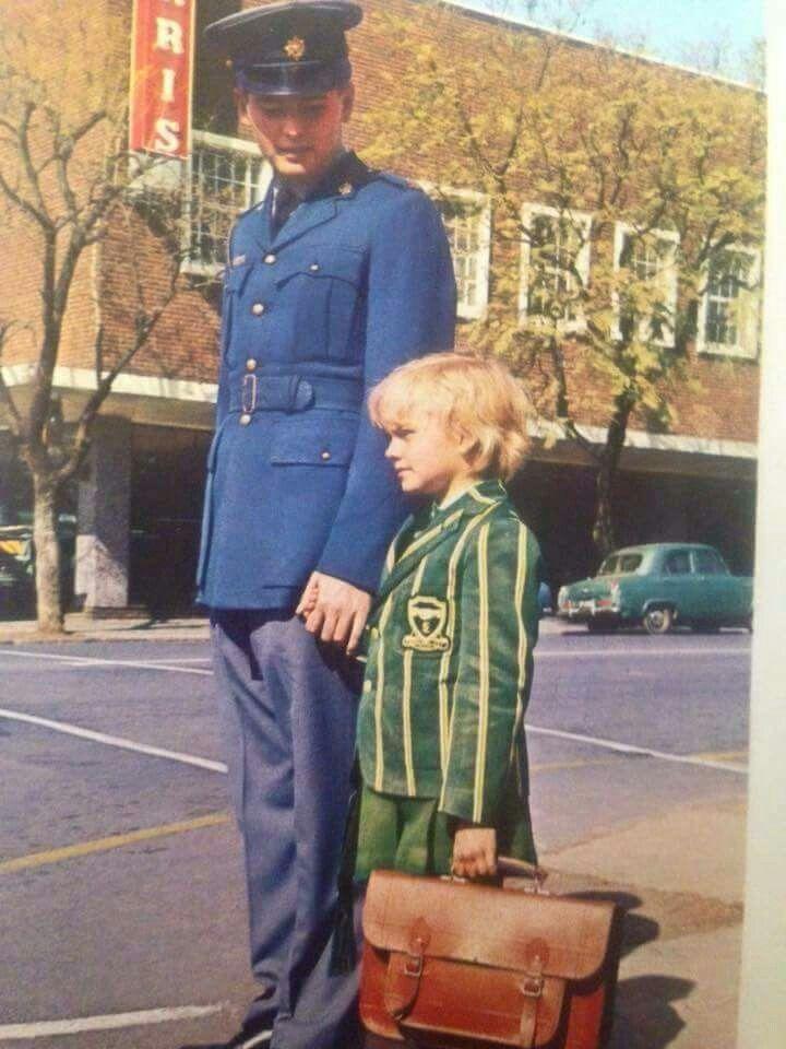 When uniform was still worn with pride.