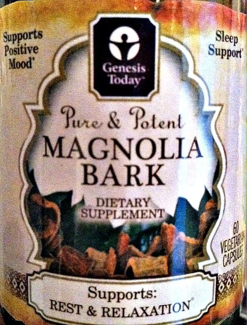 Genesis Today Magnolia Bark for rest and relaxation.