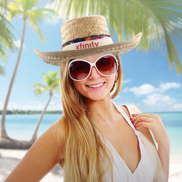 Take a gamble on us with this gambler hat with floral band! This wide-brimmed straw hat is large enough to keep the sun off your face and makes for a perfect fit for beaches, golf courses, tropical- or western-themed establishments, country music concerts and venues or simply everyday style. One size fits most and available in assorted colors, it is priced per piece but solid in increments of 12. Available unimprinted only.