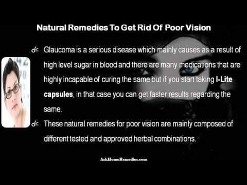 This video describes about how to get rid of poor vision problem with natural remedies. You can find more detail about I-Lite capsules at http://www.askhomeremedies.com
