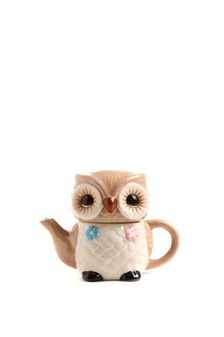 Owl Teapot Pinned by www.myowlbarn.com