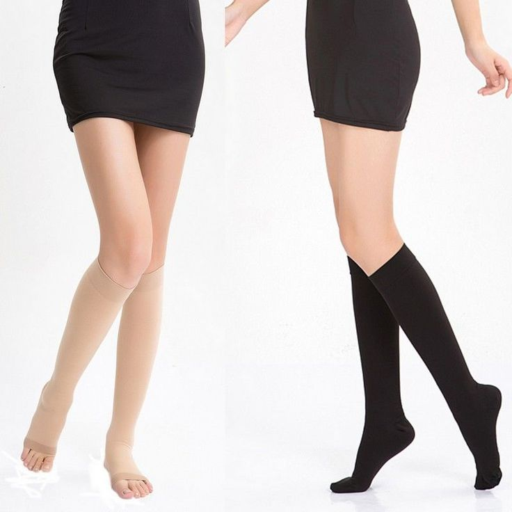 Relief Knee High Medical Compression Stockings Calf Ankle Foot Injury Support