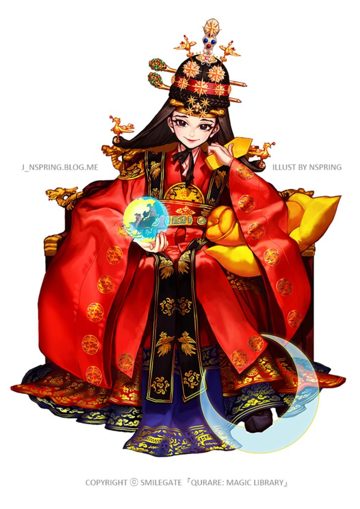 Hanbok illustration  | 한복 Hanbok : Korean traditional clothes[dress] Empress ver. no backgraound by pt0317 on @DeviantArt