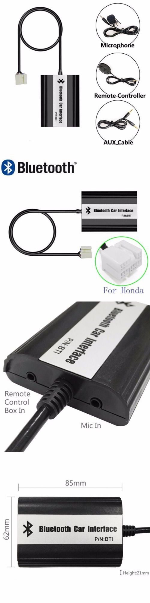 Bluetooth Handsfree Car Kits: Car Bluetooth Mp3 Music Adapter For Honda Accord 2003-2011 Civic 2006-2010 Crv -> BUY IT NOW ONLY: $44.69 on eBay!