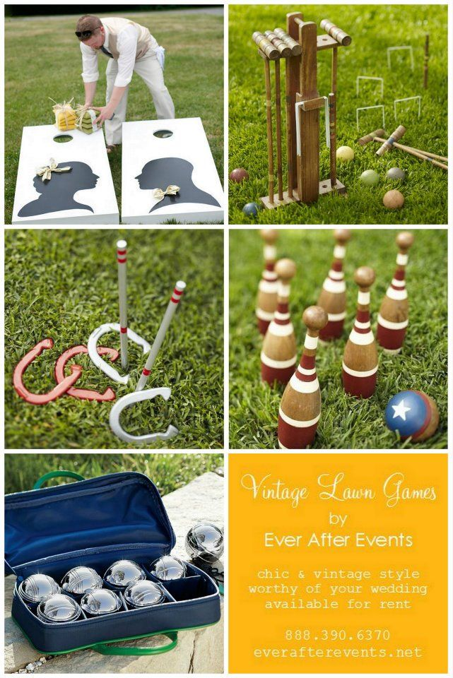 Vintage lawn games for a wedding but would be great for summer parties