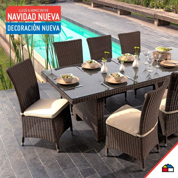 Un almuerzo al aire libre sería estupendo en un comedor como estos.Vive tus momentos en familia con comodidad y modernidad.