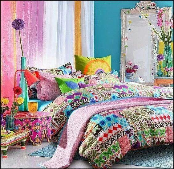 #dormitorio colorido