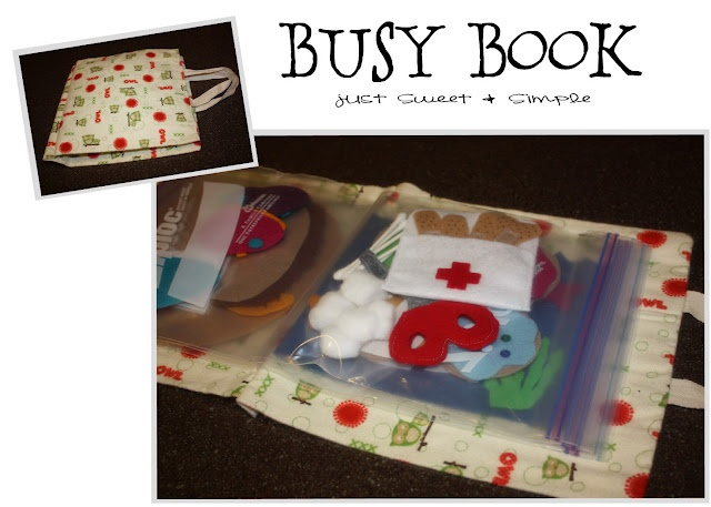 busy bag books easy and change out items for any age, or