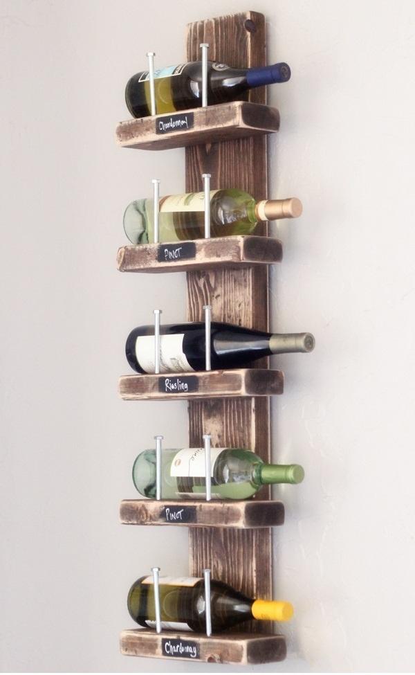 Wine rack homemade hablando de vinos pinterest for Easy wine rack