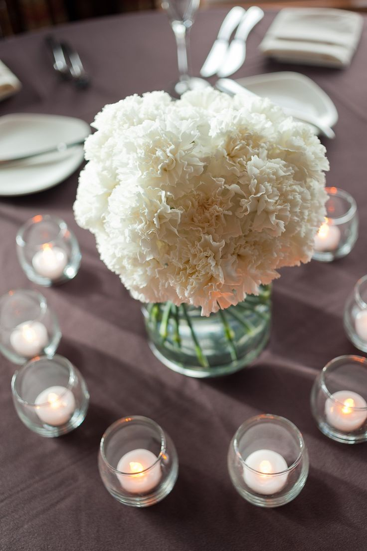 White Carnation Centerpieces