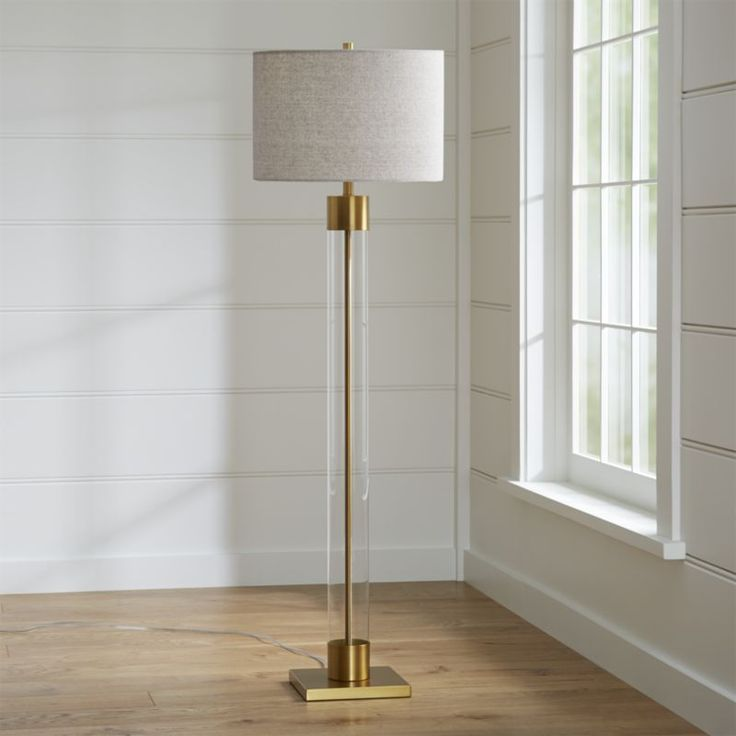 168 best for the home images on pinterest bathroom lighting an illuminating mix of modern and metal our tall floor lamp rises high on a clear cylindrical glass base capped with warm brass accents aloadofball Images