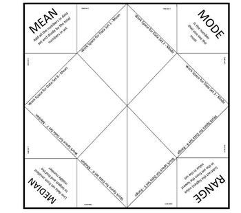 Have fun with your students with this Mean, Median, Mode and Range Cootie Catcher only $1.00!