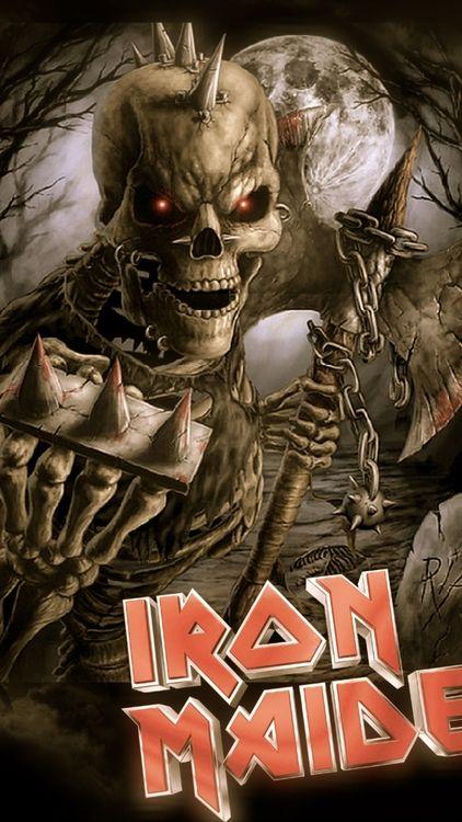 Iron Maiden #metal #music #hardcore #skeleton