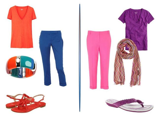 Chic Sighting: bright pants X four