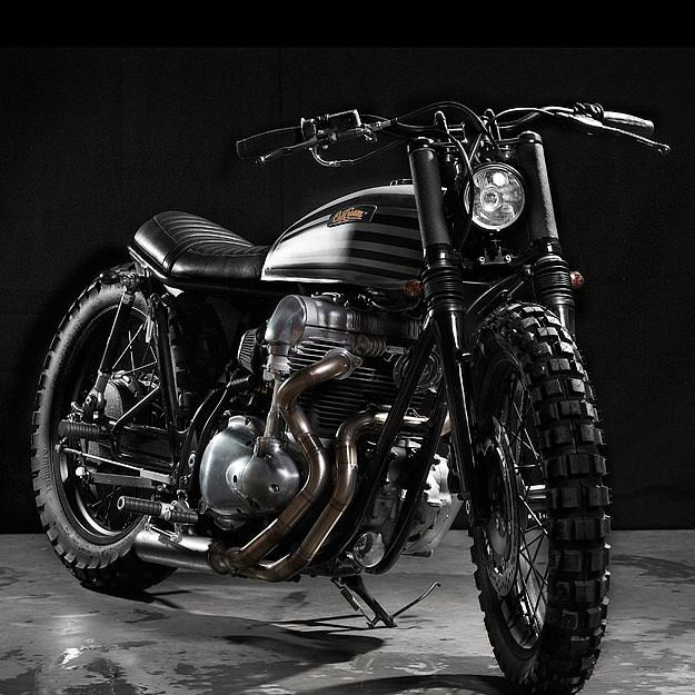 2003 Kawasaki W650 - The Kawasaki W650 is a motorcycle just begging to be customized. Production ended in 2008, but it's easy to find one on the secondhand market, prices are reasonable, and custom parts are plentiful.