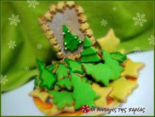 Χριστουγεννιάτικα μπισκότα απο τον Σ.Παρλιάρο #sintagespareas