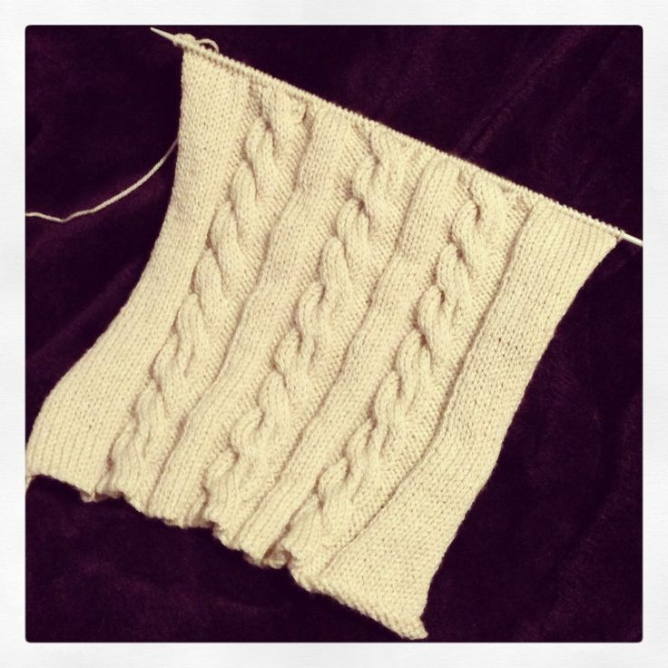 Work in progress - 10 stitch cable knit, will become a 40cm cushion cover. #knitting #knit #cable #cushion